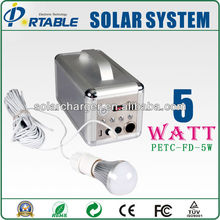 Family Camping Using DC solar power system 5w to 20w Factory Outlet