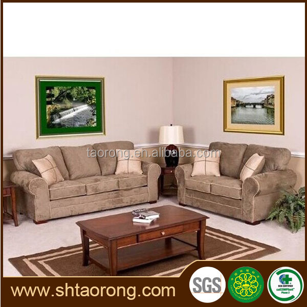 Contemporary wood frame sectional sofa TRSO-375