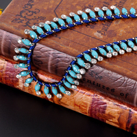 Colours Chain Resin Statement Necklace