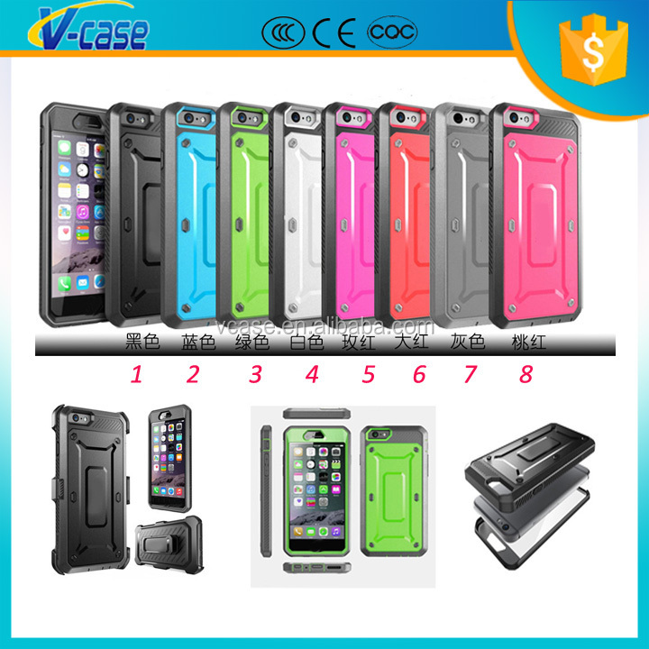 Colorful Armor Design Hybrid phone case Hard TPU PC phone cover for iPhone 6