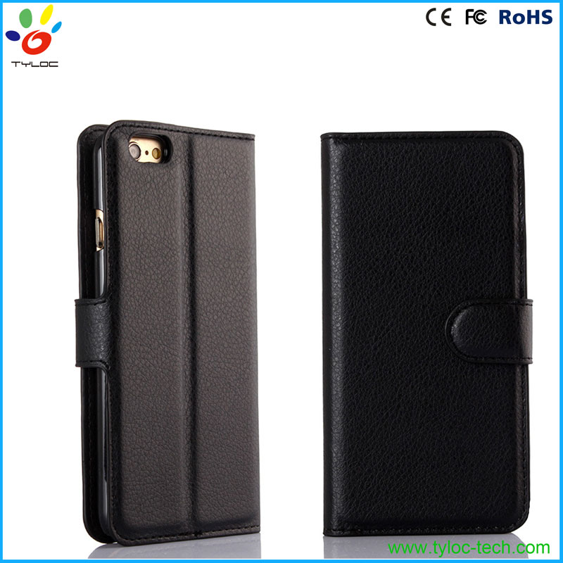 mobile phone wallet stand PU leather flip cover case for iPhone 6s