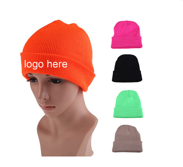 wholesale beanie caps custom embroidery logo beanie hat/knitted beanie in winter hat