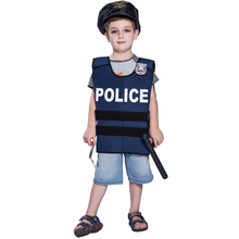2017 hot sale Wholesale kids costume halloween Best selling children police cosplay costume