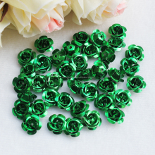 Assorted Aluminum Rose Petal Embellishment Cabochons Metal Flowers for Crafts Decorative Supplies 6/8/12/15mm