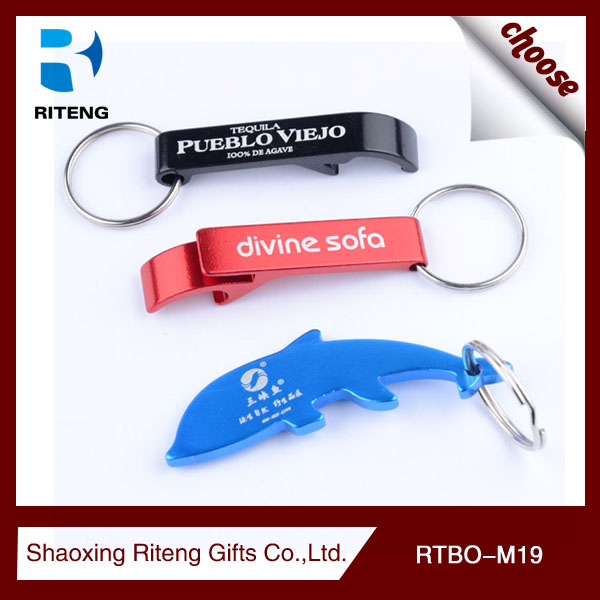 mini aluminum alloy Bar Blade Bottle Opener keyring