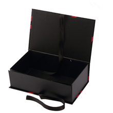 2016 New Products Custom made folding box new design with ribbon Luxury gift box