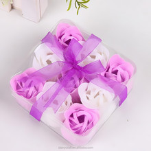 Rose Soap Flowers PVC Box Package Soap Flowers
