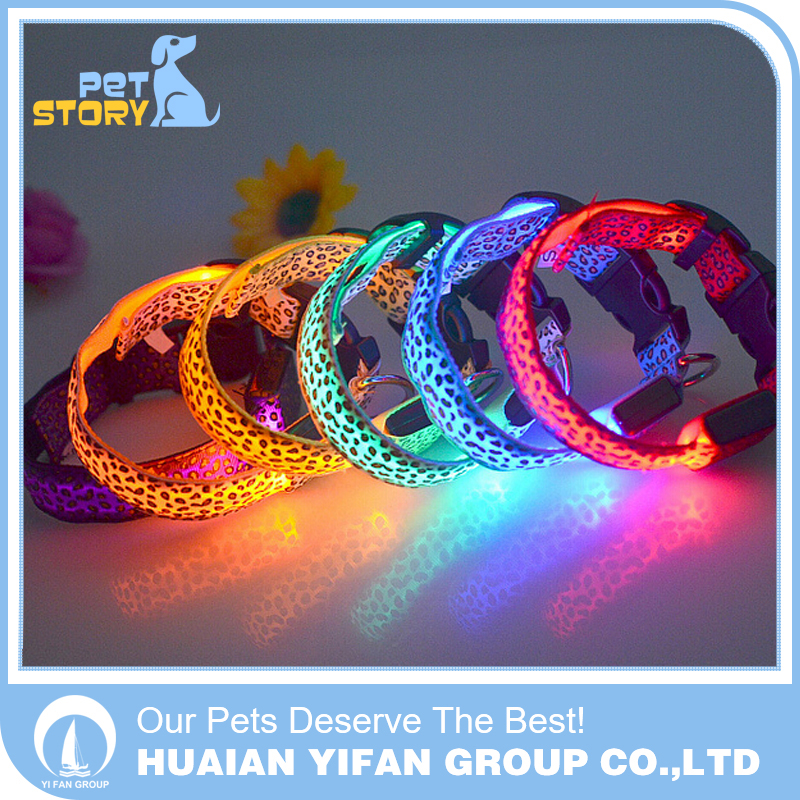 Safety glowing adjustable led dog collar electric pet sport dog shock collar