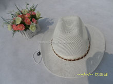 Bottom price Nice looking perfect men's paper cowboy hat straw hat