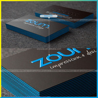 Latest new design luxury raised uv business card, durable paper raised print business cards