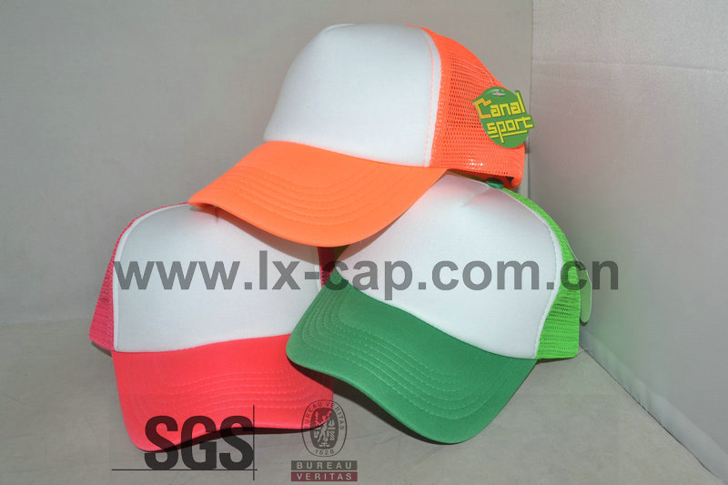 custom plain orange 5 panel fitted trucker baseball cap ccap-0288