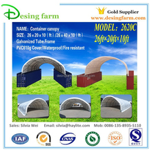 Portable storage shelter for container office