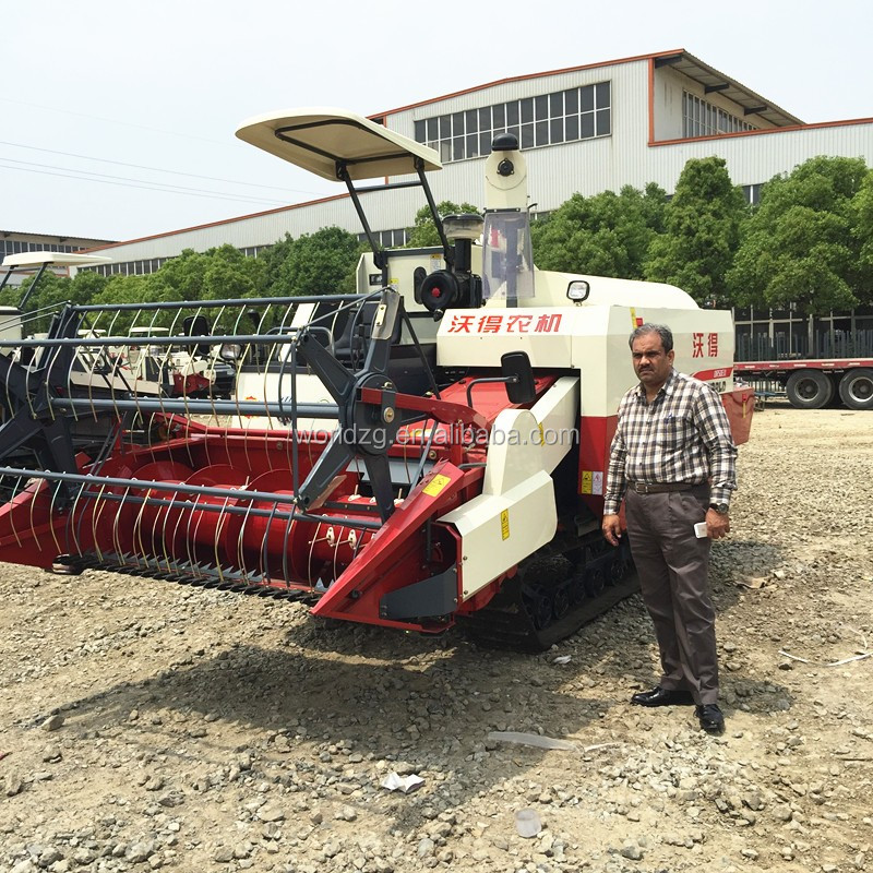 crawler type farming harvester for rice and wheat