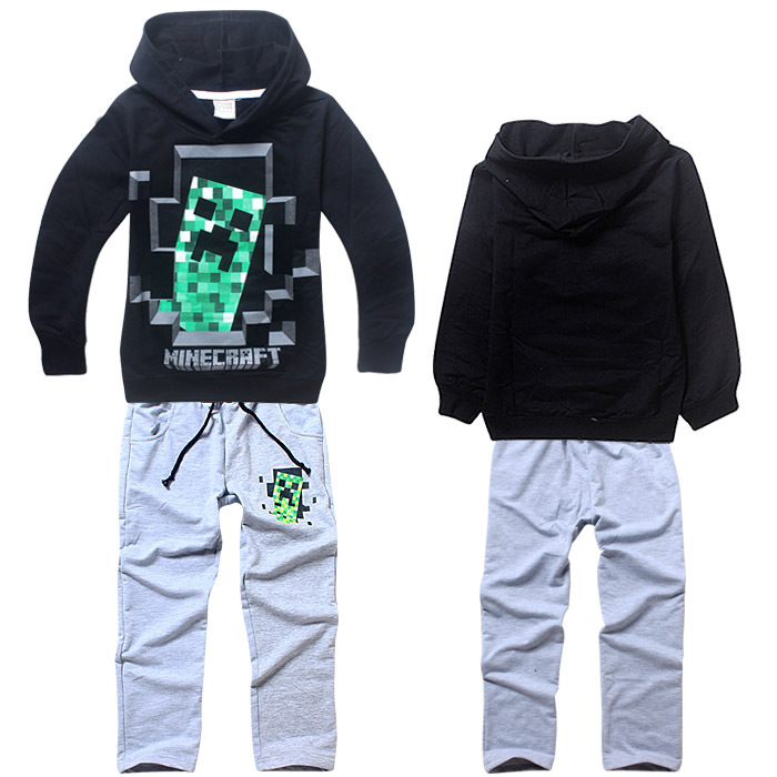 2015 hot sale cotton boys clothing set fashion hoodies + pants children sport suit spring tracksuit kids clothes Free Shipping
