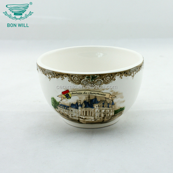 Fully stocked factory supply decorative punch cheap soup bowl