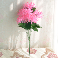 Home decoration giant artificial chrysanthemum flowers for sale