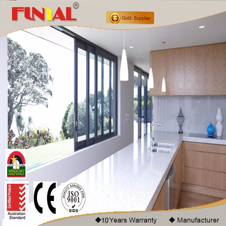 Energy saving best sell aluminum framed glazed sliding window