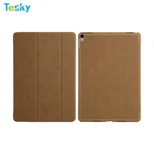 2018 Ultra Slim Light weight Smart Folio leather wallet Frosted Back case cover For All New Apple iPad Pro 10.5 inch