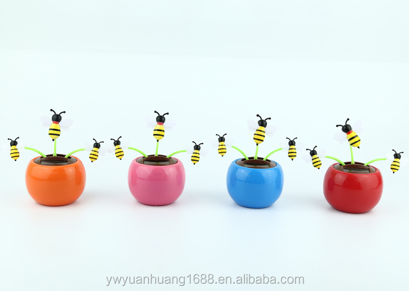 powered solar dancing bee for car decorative cute sunlight solar toys