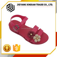 Lovely no heel sandals fashionable child flower shoes for girls