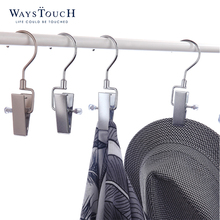 A clip Hook hanger iron Clip wire clothesDrying rack Hook hanger clothes 360 degree swivel hook hanger