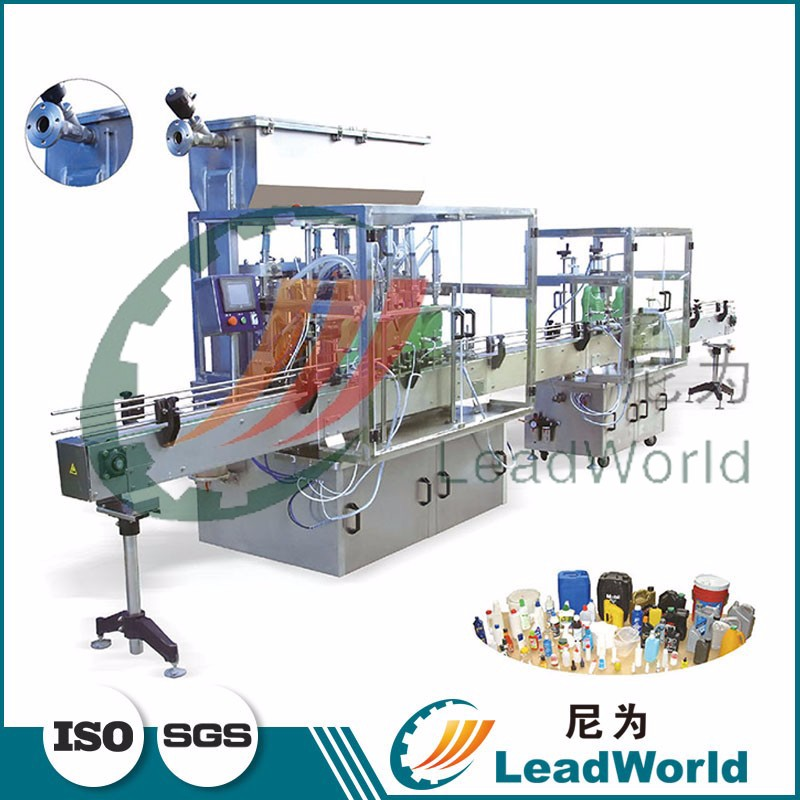high speed servo motor driven automatic engine oil filling machine for bigger and strange bottle