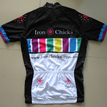 Wholesale 100%polyester coolmax dry fit women jersey cycling