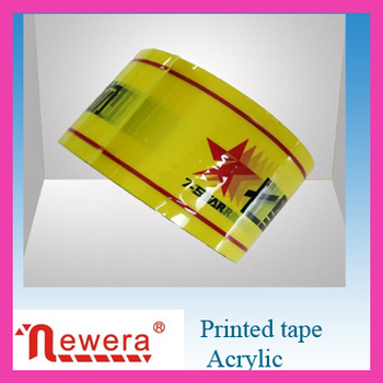 Custom printed carton sealing adhesvie tape