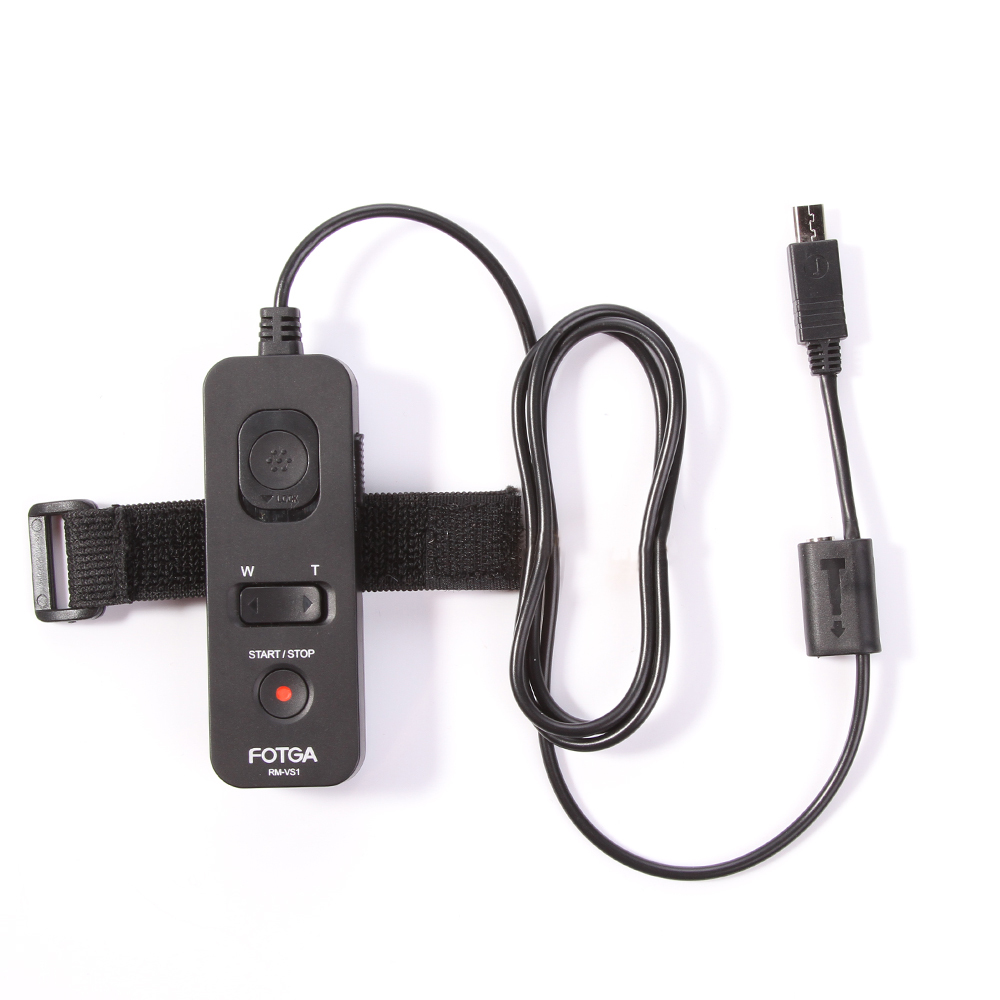 FOTGA remote cord RM-VS1 for Sony cameras as RM-VPR1 also as shutter release cord for Cano n Niko n with optional cable