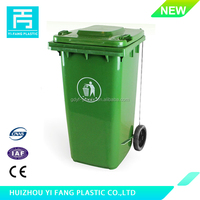 YF-120C, Cheap outdoor Eco-Friendly 120L HDPE plastic recycle bin with side padel