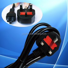 low voltage uk power plug with fused for household appliances/power cord