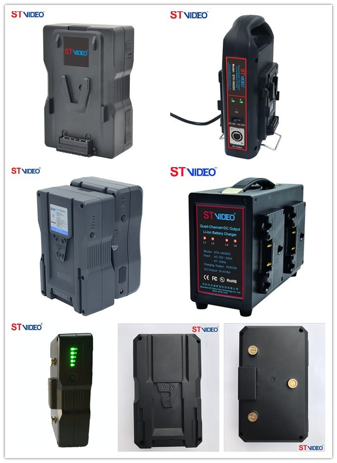 Dual-channel + DC Output Li-ion Battery Charger, Camcorder li-ion battery charger, power supply for video camera