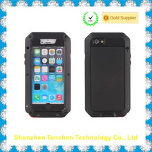 Waterproof Shockproof Aluminum Gorilla Glass Metal Heavy Duty Armor Bumper Cover Case for Apple iPhone 5 5S Home Key+Fingerprint