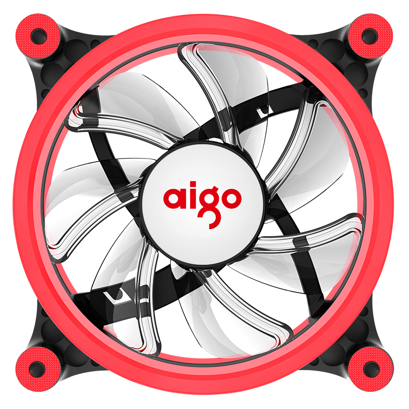 aigo Z6 LED fan double ring fan red color 1200 RPM