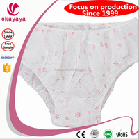 Sexy printing new design disposable nonwoven ladies g-string panties brief disposal hospital panties