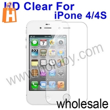 For iPhone 4/4S Screen Protector, HD Clear Screen Protector Film Guard for iPhone4 iPhone4S
