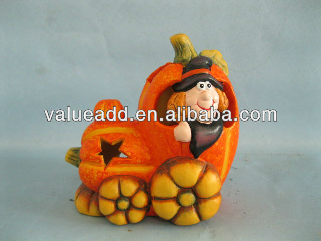 ceramic halloween pumpkin