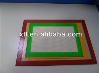 Silicone Baking Mat - for Lining Pastry Pans - Non Stick Surface Sheet Makes Baking Easy 8-1/4x11-3/4""