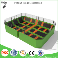 Long Jump Mat Equipment Commercial Trampoline with Foam Pit and Dodgeball