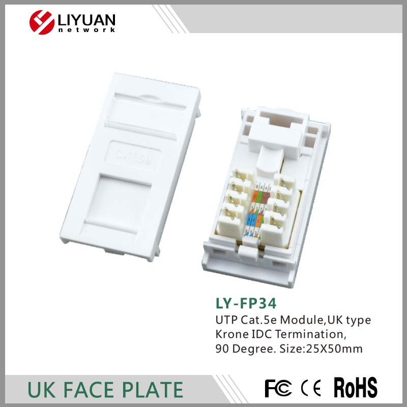 LY-FP34 Network Faceplate Information UTP Cat.5e Module Faceplate Telecommunication Networks