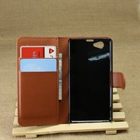 Flip Stand Wallet Leather Case for Sony xperia Z1 compact