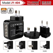 JY-404 2017 New product gadget mobile phone accessories sockets universal travel power adapter with USB charger