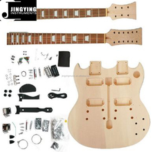 Wholesale Factory Direct Sale Customization double necked SG style Electric guitar kits