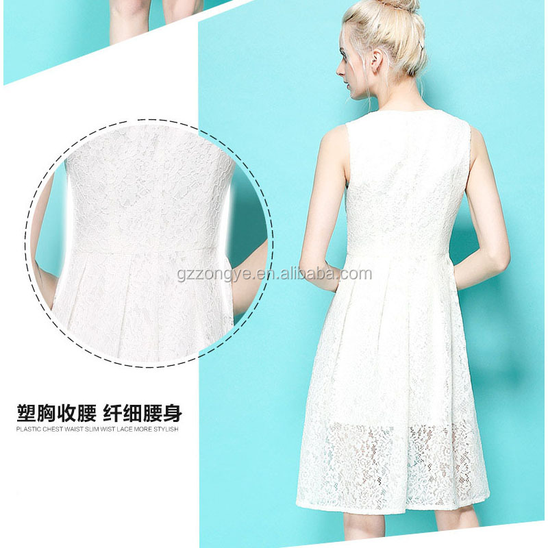 Summer latest girl's wear of European and American sleeveless V-neck long princess lace charming dresses
