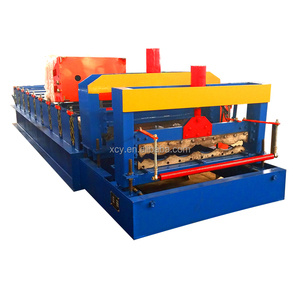 Automatic Production Line PPGI Glazed Tile Metal Roofing Sheet Cold Roll Forming Machine roll former steel tile press machine