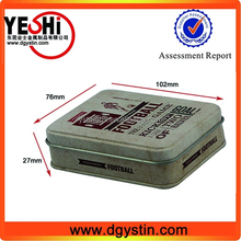 Personalized rectangle business namecard packing tin box supplier