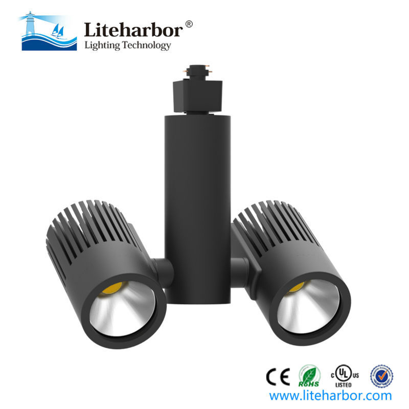 high lumen directional track twin heads led lamp for projector