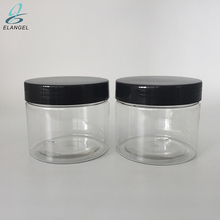 Straight Sided 150g Clear PET Plastic Jars with Black Lids Refillable Empty BPA-free Containers Great for Cosmetics, Foods, Gift
