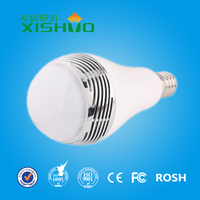 Music Android Apple System IOS RGBW WIFI Bluetooth speaker smart led light bulb 5w with CCC CE FCC RoHS SAA