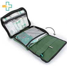 Green bag custom 90pcs small first aid kit bag for office